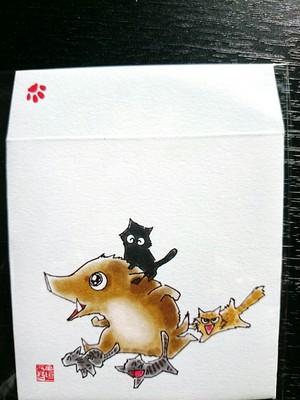 (寄付)十二支ポチ袋 亥のイラスト