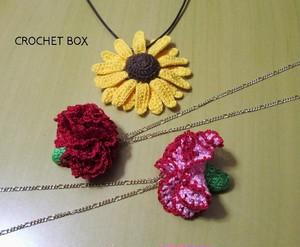 季節のお花のネックレス
