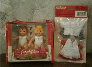 1995s Campbell Kids doll set