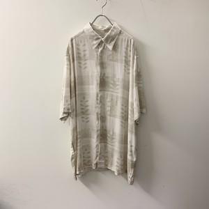 concepts レーヨンシャツ ホワイト系 size XL メンズ 古着