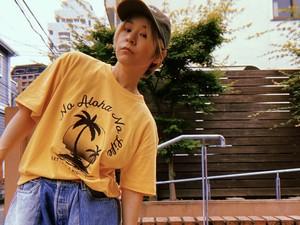 NO ALOHA NO LIFE PARM TREE T-shirts / col.banana