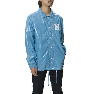 CORTED NYLON COACH JACKET -SAX