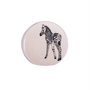Zebra Back シマウマ 正円プレート スモール