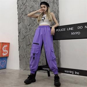 【ボトムス】INS大人気ファッションストリート系ハイウエストカジュアルパンツ