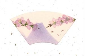 押し花メッセージカード(桜と富士山)