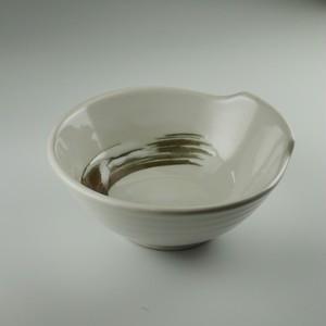 白釉錆刷毛呑水(小) [ 12.5 x 12.0 x 5.0cm ] 【黒と白】