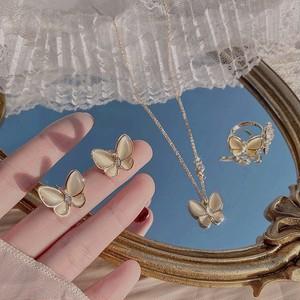 butterfly motif accessory set