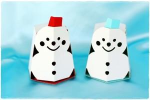 【2個入り】きゃらーずBOX(雪だるま)