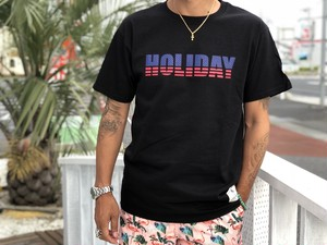 6/13(金)21時発売!復刻!LIFEis×champion holiday tシャツ(black)¥3500+tax