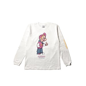 GOOD BOY L/S TEE / WHITE