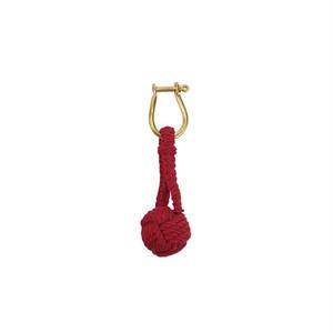 Monkey Knot Key Ring RED