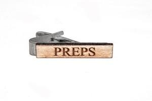 ヴィンテージ ポプラウッド ネクタイピン PREPSロゴ Wooden PREPS Bar - Poplar
