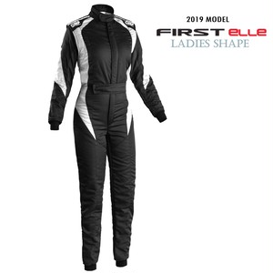 IA01854W076  FIRST Elle Suit  BLACK / WHITE