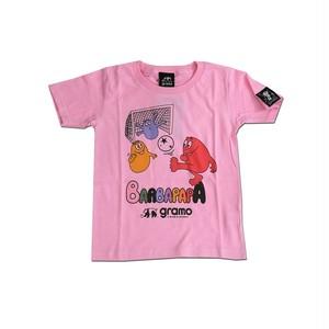 BARBAPAPA×gramo コラボ Tシャツ「pass-T」(ピンク/T-018) ※110cm~150cm