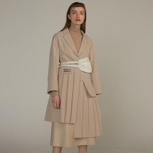 Pleated dress chester coat プリーツ ワンピース チェスター コート