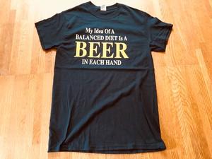 US 古着 BEER ビール Tシャツ 酒 アルコール メッセージ パロディ