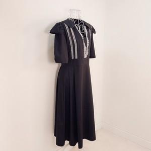 【即納】French puff dress