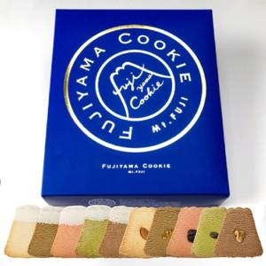フジヤマクッキー 10枚入り  紺箱 トッピング&ホワイトチョコ