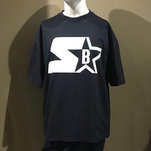 STARTER BLUEBLUE ロゴ ハーフスリーブ Tシャツ NAVY
