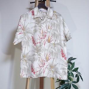 Stracture 植物柄アロハシャツ US [C790]