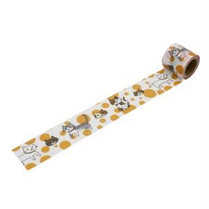 まるねこ(45mm×5m巻)YJS-12 デザイン養生テープ