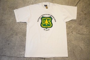USED US FOREST SERVICE T-shirt  made in USA G0314