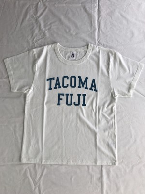 TACOMA FUJI RECORDS COLLGE LOGO  designed by Shuntaro Watanabe  WHITE