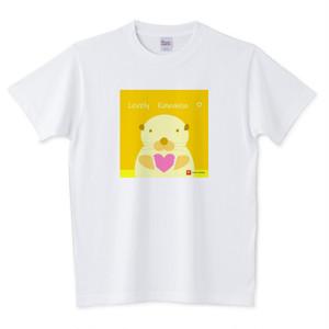 Tシャツ ♡のカワウソちゃん(オレンジ)