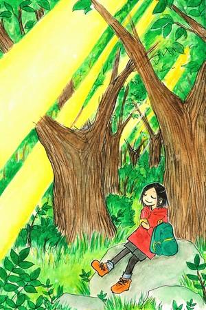 ポストカード「自然のなかでリラックス」