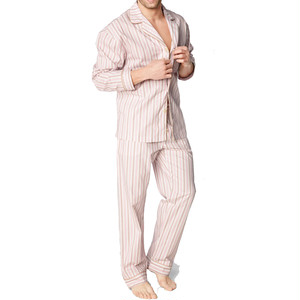 BedHead Pajamas メンズコットンパジャマ  Pink Rail Road Stripe