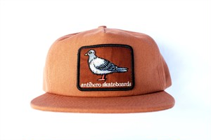 ANTIHERO PIGEON PATCH SNAPBACK CAP BROWN アンチヒーロー