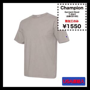 <<無加工のみ>> Champion - Garment Dyed Short Sleeve T-Shirt (品番CD100)