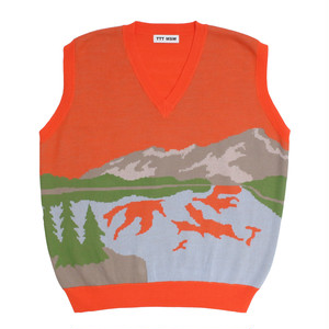 YOSEMITE KNIT VEST ORANGE