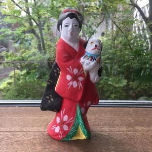 鹿児島 帖佐人形 狆抱き娘