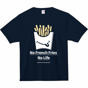 Tシャツ(No French Fries No Life - ネイビー)