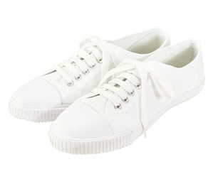 Blackmans Shoes ラバートゥ・プリムソールシューズ (ホワイト) レディース