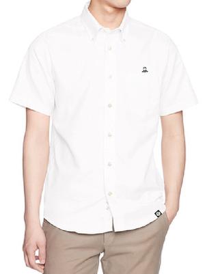 【ラスト1!】レッツ剣道定番ロゴ刺繍半袖Yシャツ/ホワイト