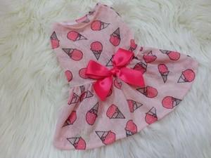 ★かわいい犬服ワンピ/ドレス  Sweet Ice Creamワンピ