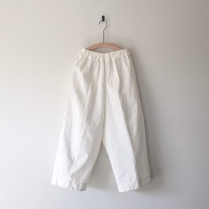 【miho umezawa】 VOILE WEATHER CLOTH cocoon wide pants