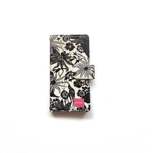 北欧デザイン iPhone手帳型ケース  | paradise black