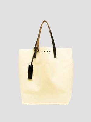 MARNI TRIBECA SHOPPING BAG CEMENT+COFFEE+BLACK SHMQ0000A3P3572Z2O12