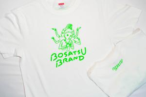 【仏像Tシャツ】阿修羅Tシャツ 半袖 ホワイト 線蛍光グリーン(サイズM・L・XL ) かわいい ゆったりサイズ 男女兼用 仏像Tシャツ