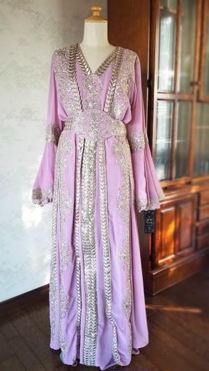エジプト製ドレス 【ピンク】