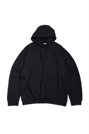 Elbow Patched Back Open Hoodie Collaborated PRE_ -BLACK- / soe