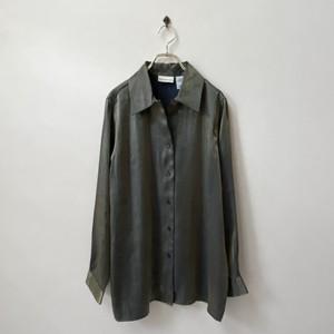 90年代 グリッター オープンカラーシャツ アメリカ 古着 L