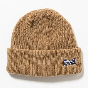 VOTE SIDE LOGO BEANIE - BEIGE