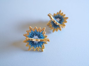 ARRO / Embroidery Earrings / SPUTNIK / turquoise