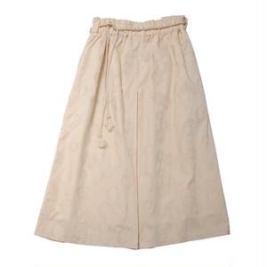 Tuck skirt flower Jacquard
