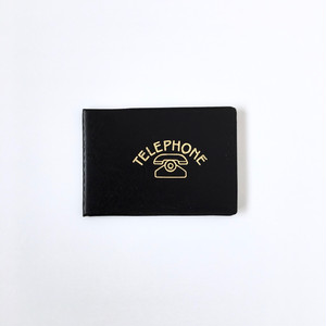 デッドストックの電話帳(黒)