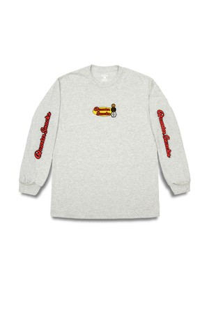 Quartersnacks MIDDLE SCHOOL LS TEE ASH GREY L
